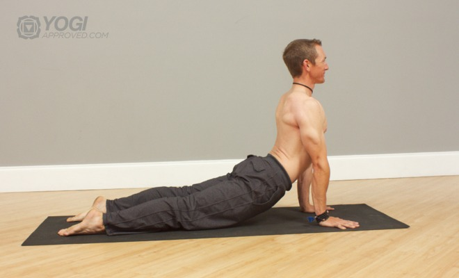 mens up dog yoga pose