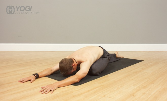 mens Pigeon yoga pose