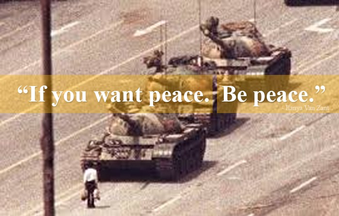 if you want peace be peace