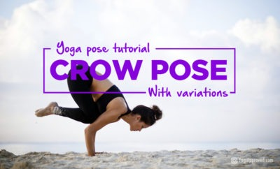 crow pose tutorial with variations