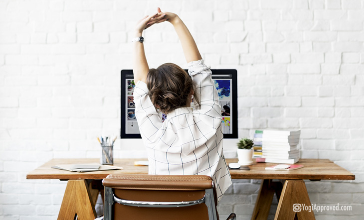 If You Have a Desk Job, Your Body Will Thank You For These 5 Desk Yoga Poses
