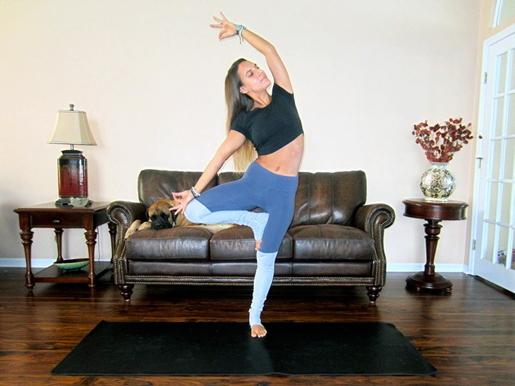 Tree pose variation