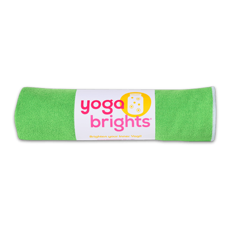 YogaBrights Green & White Yoga Towel ($25)