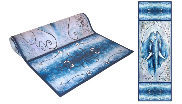 The Painted Elephant Mat or Towel from Pravacana Mats (From $59)