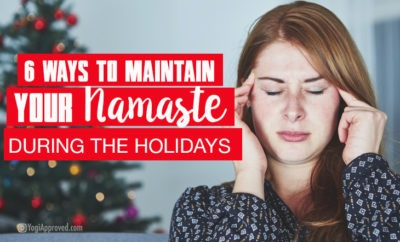 namaste during the holidays