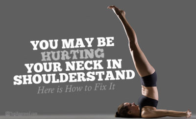 hurting your neck in shoulderstand
