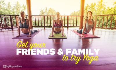 Family friends yoga featured image