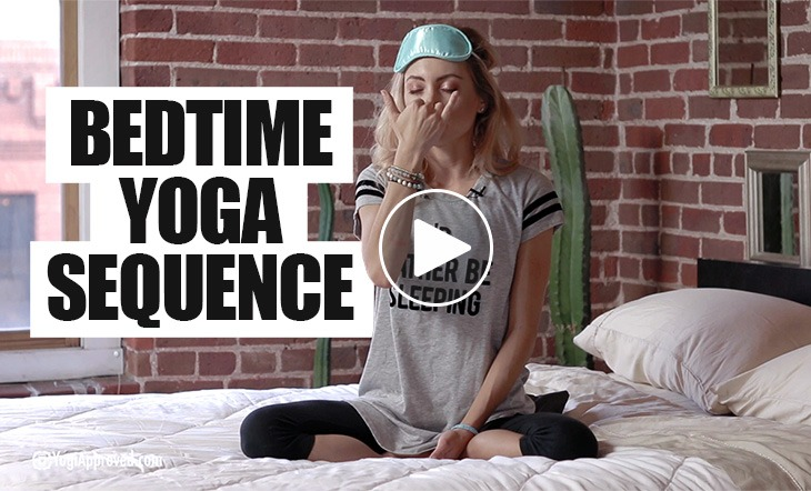 Simple Bedtime Yoga Sequence for Restful Sleep (Video)