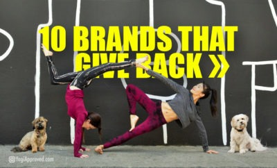 10 yoga brands that give back