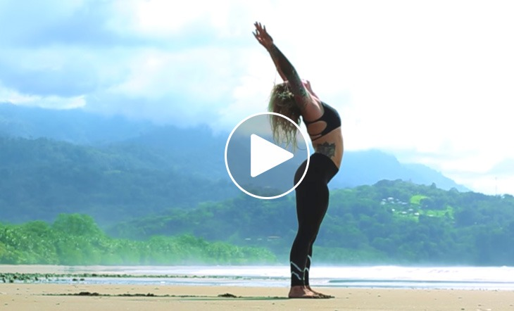 Beautiful Yoga Flow in the Rainforest and on the Beaches of Costa Rica (Video)