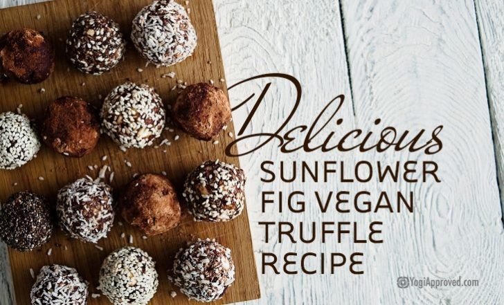 This Delicious Sunflower Fig Vegan Truffle Recipe is Packed With Superfoods