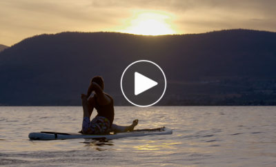 peaceful sunset sup flow video featured