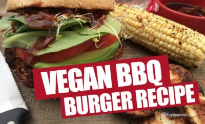 vegan bbq burger recipe featured