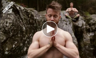 watch sexy kilted men forrest yoga featured