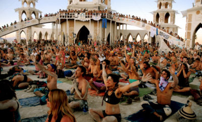 burning man yoga featured