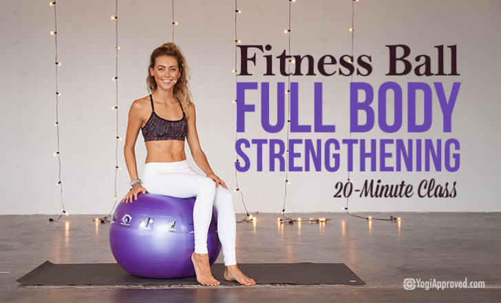 How to Use an Exercise Ball for Full Body Strengthening (Free Video)