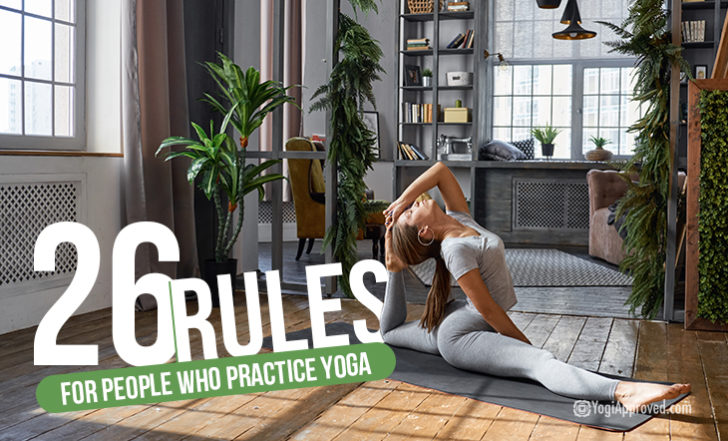 26 Rules for People Who Practice Yoga