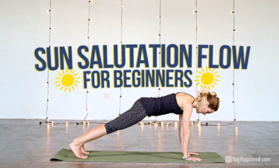 sun salutation flow video featured
