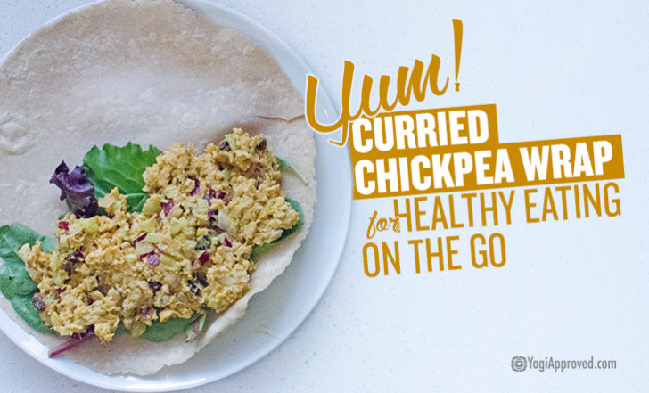 Vegan, Gluten-Free Curried Chickpea Wrap Recipe for Healthy Eating On the Go