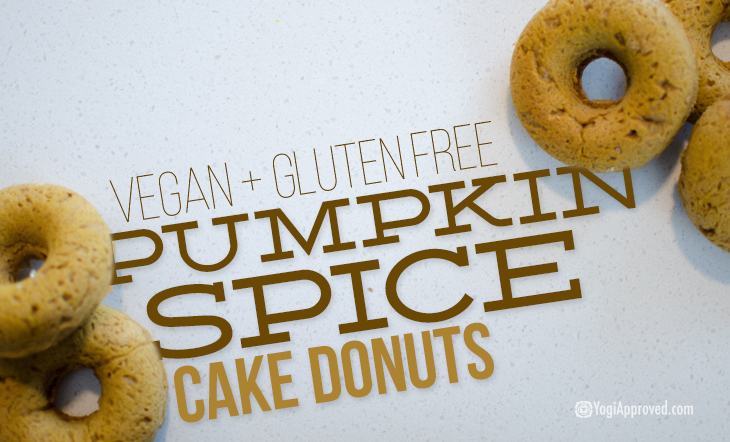These 5 Ingredient Pumpkin Spice Cake Donuts Are a Total Life-Hack (Vegan, Gluten Free Recipe)