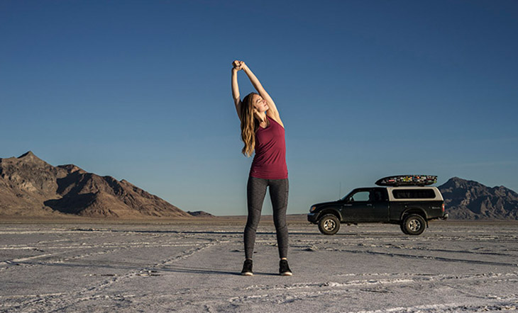 Practice These 4 Yoga Poses On Your Next Road Trip