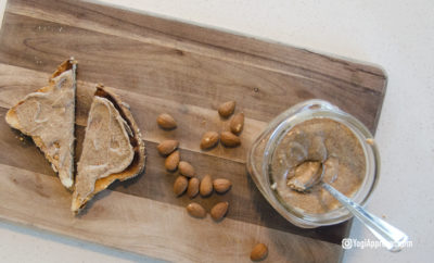 homemade almond butter featured