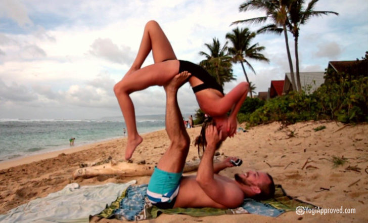 Incredible AcroYoga Marriage Proposal On a Hawaiian Beach (Video)
