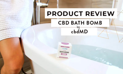 cbdMD bath bomb review