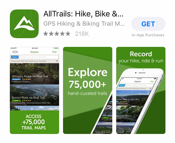All-trails-app