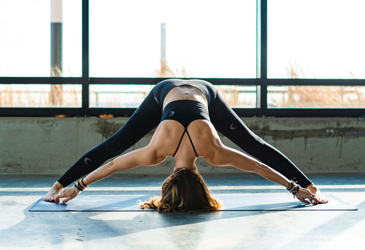Straddle Forward Fold Pose
