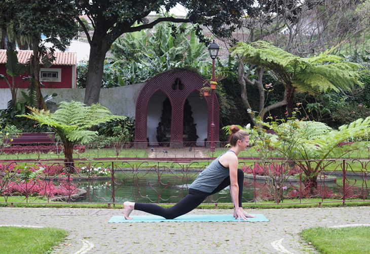 """Low-Lunge """"width ="""" 730 """"top ="""" 500 """"class ="""" aligncenter size-full wp-image-94080 """"/> </p> <p> Let's Attempt It: </p> <p>In your inhale, step your proper leg again right into a Low Lunge<br /> Decrease your proper knee to the mat<br /> All of your hips to sink ahead and down<br /> Hold your left foot regular on the mat between your fingers and your left knee stacked over your heel<br /> Hold your palms on the mat or attain your arms overhead<br /> Deliver your gaze ahead and calm down the shoulders away out of your ears</p> <h3><span class="""