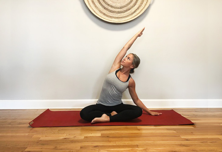 seated side body stretch