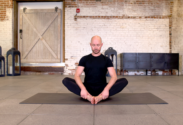 Bound Angle Butterfly Pose 1